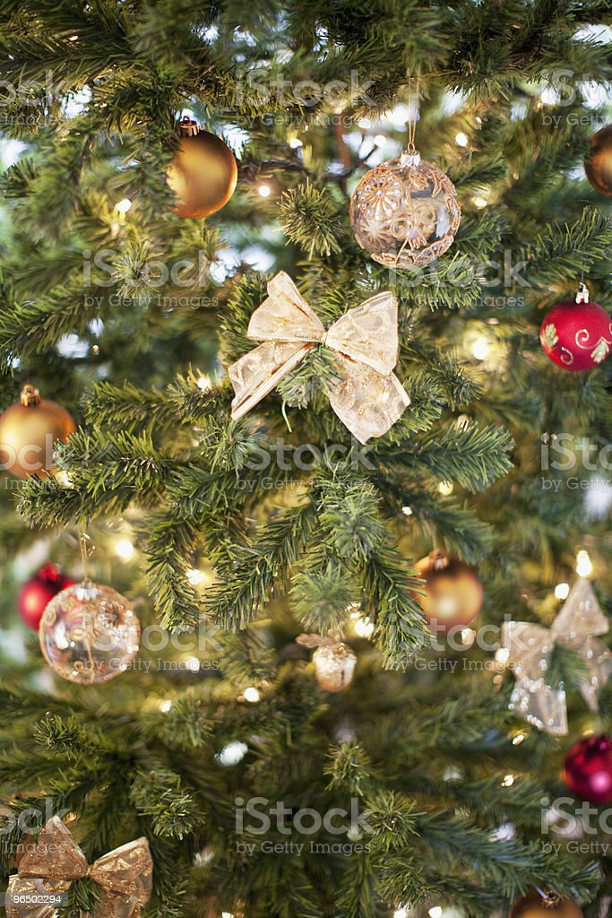 Christmas ornaments on tree royalty-free stock photo