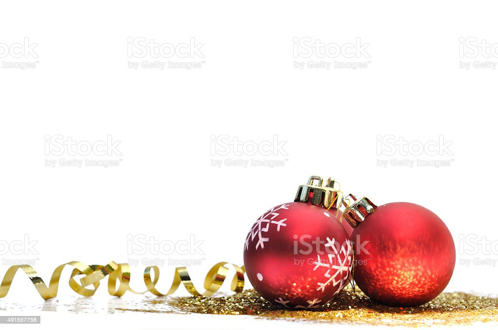 Christmas ornements stock photo