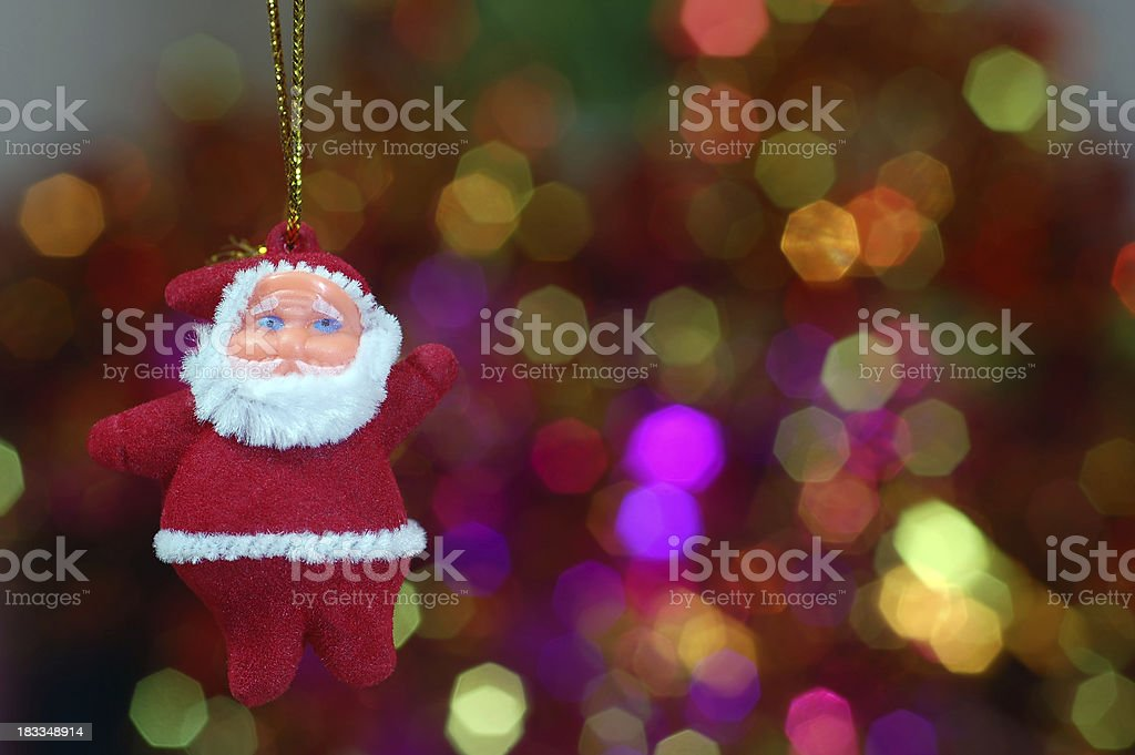 Christmas ornaments Santa Cheer stock photo