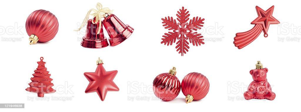 Christmas ornaments - series stock photo
