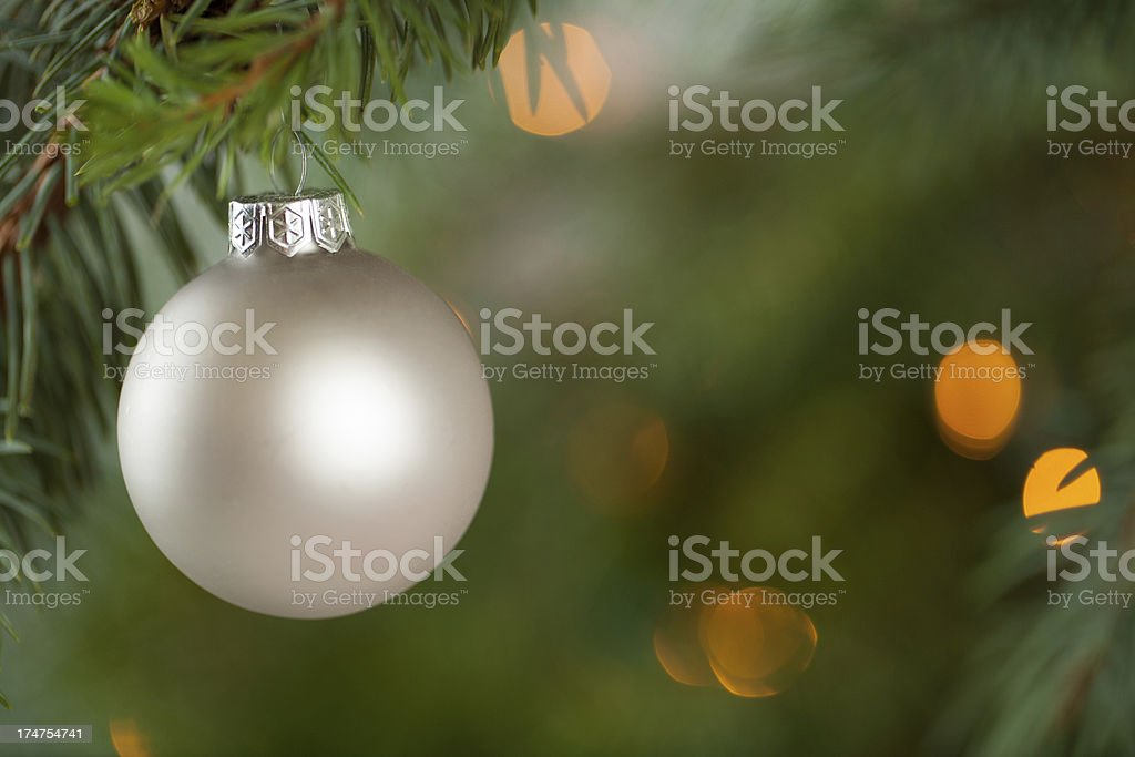 Christmas Ornaments with Copy Space stock photo