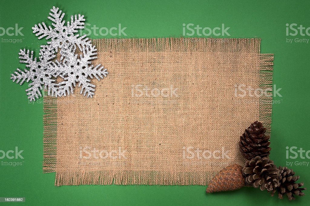 Christmas ornaments with sackcloth royalty-free stock photo