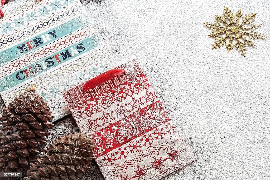 Papel de Presente de Natal malas e cookies foto royalty-free