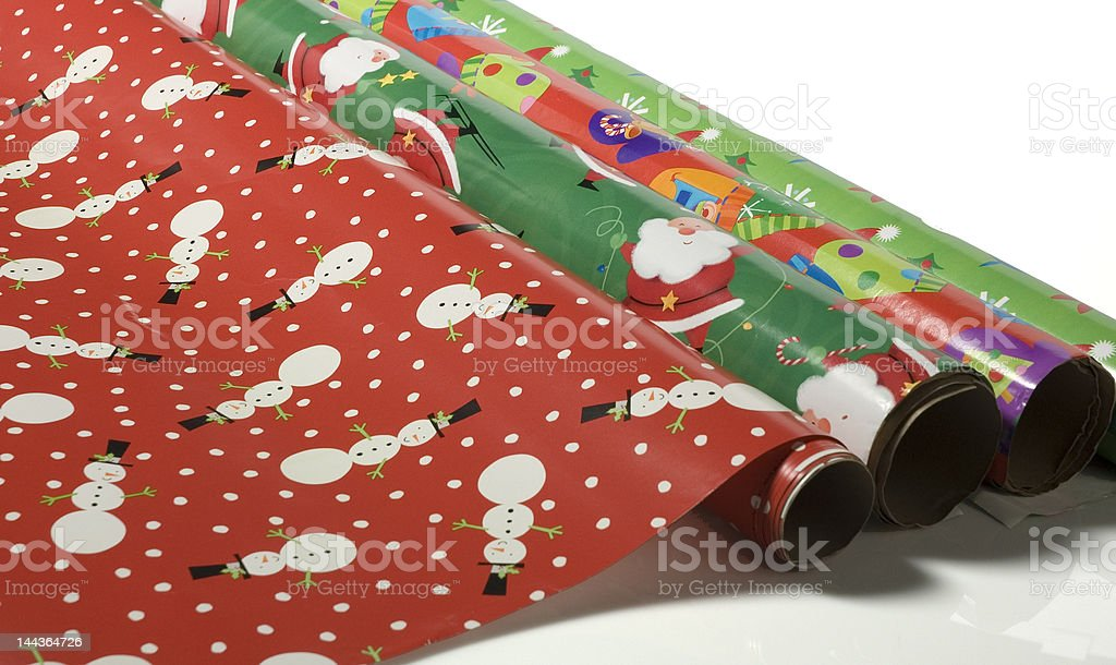 Christmas paper stock photo