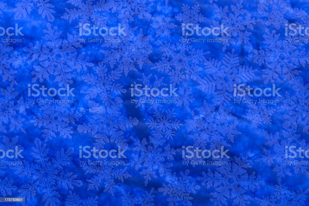 Christmas Paper Texture Background with Blue and White Snowflakes royalty-free stock photo