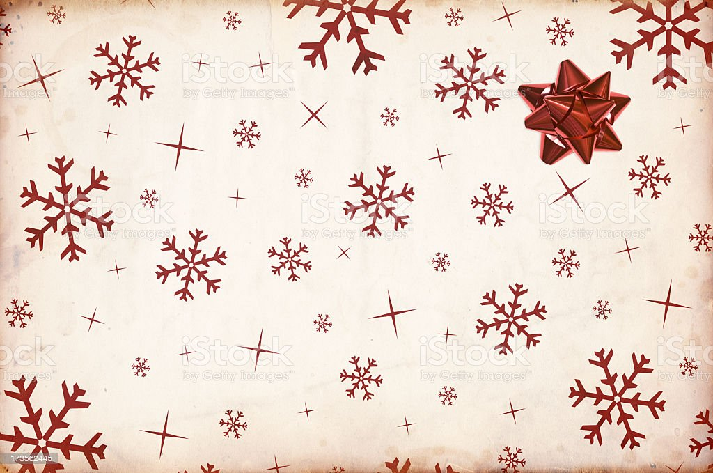 Christmas Paper with Bow XXXL royalty-free stock photo