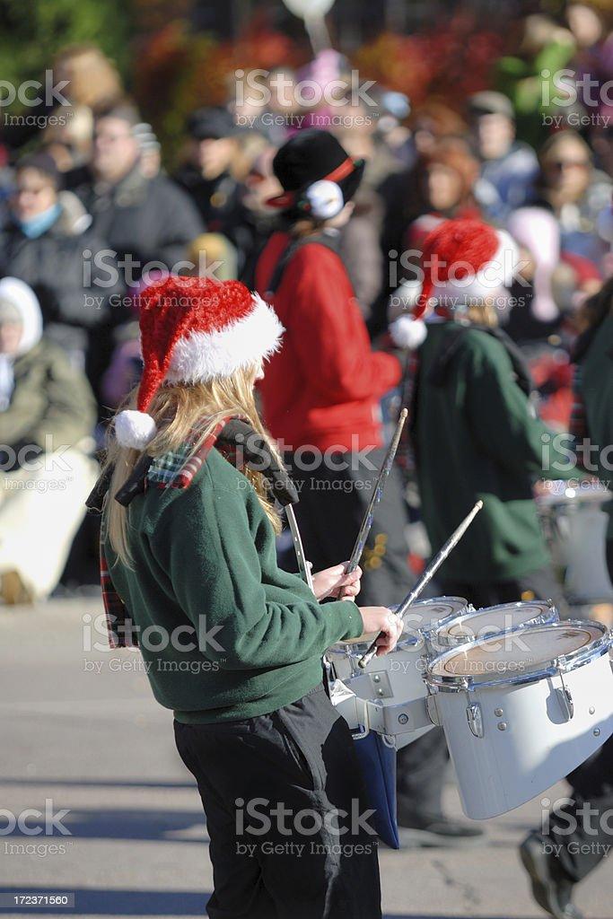 Christmas Parade Band royalty-free stock photo