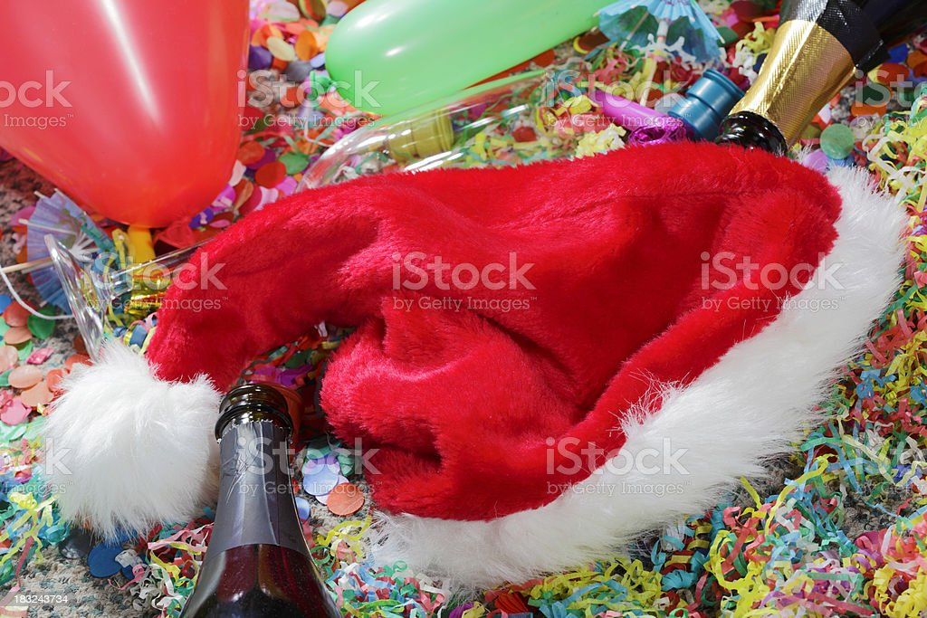 Christmas Party Mess royalty-free stock photo