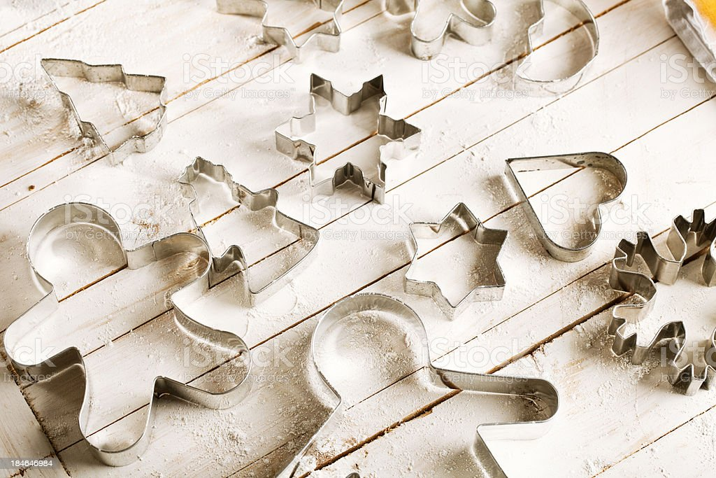 christmas pastry cutter stock photo