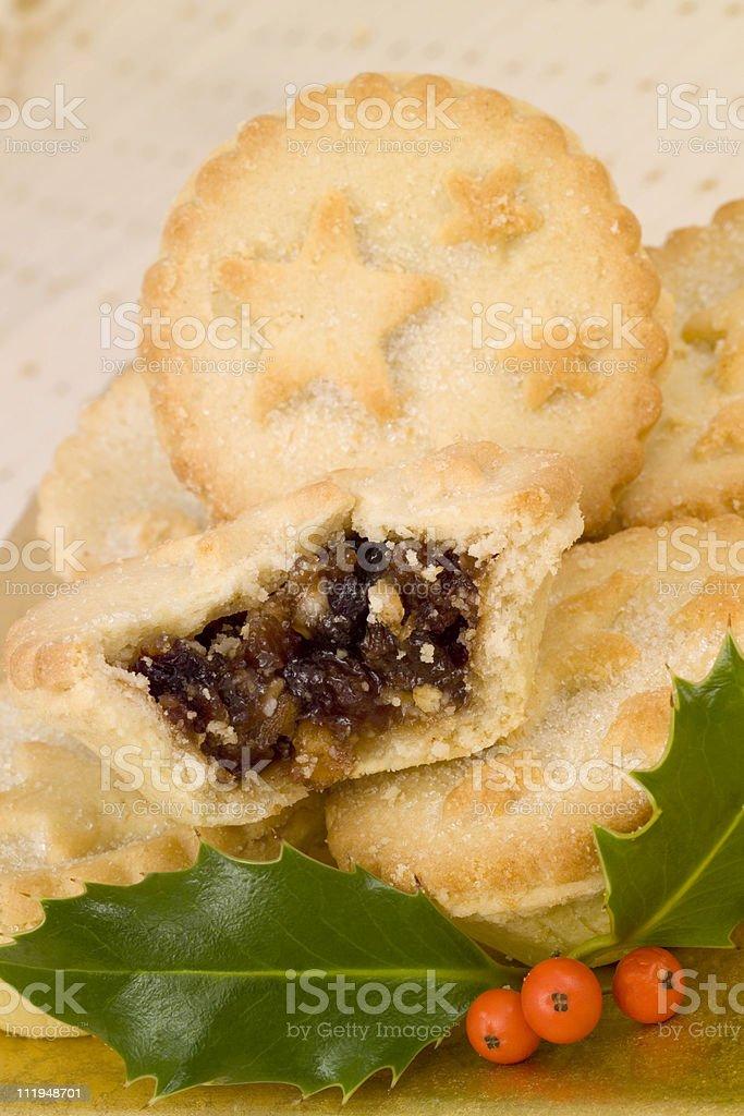 Christmas pies stock photo