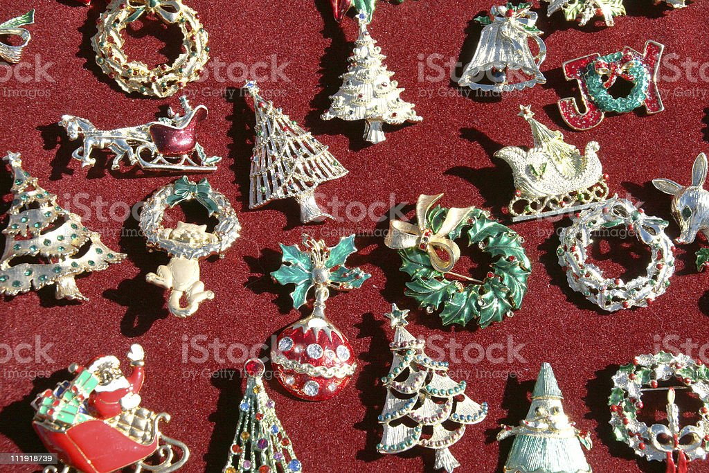 Christmas Pins royalty-free stock photo