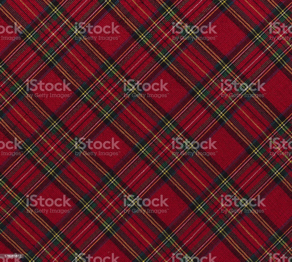 High resolution Christmas plaid fabric stock photo