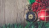Christmas Pocket Watch with Ball and Gift Box
