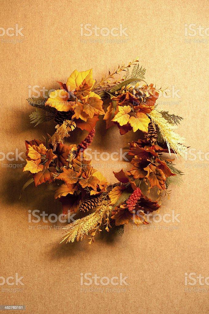 Christmas Poinsettia Wreath royalty-free stock photo