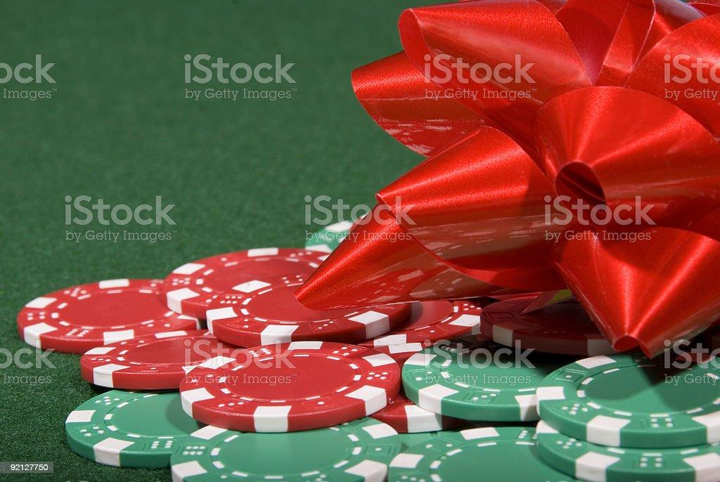 Christmas Poker Chips royalty-free stock photo