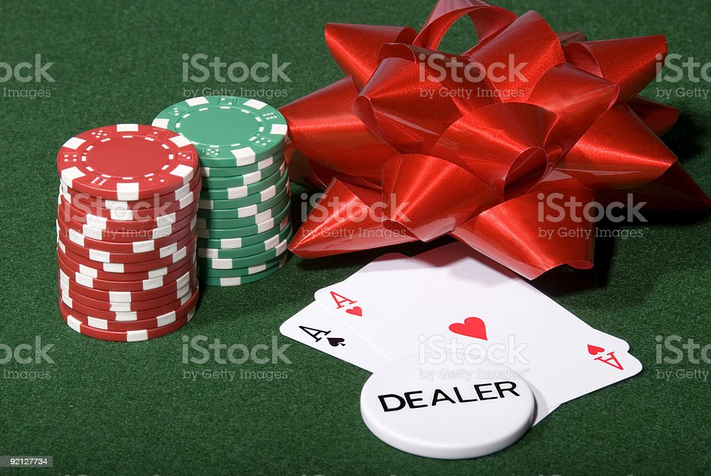Christmas Poker Table royalty-free stock photo