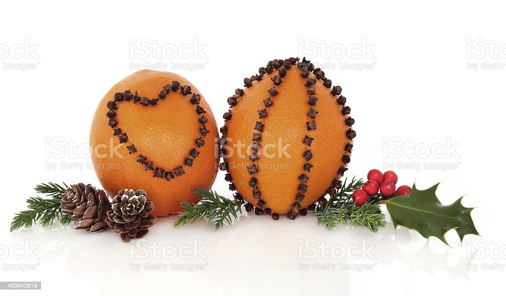 Christmas Pomander Decorations royalty-free stock photo