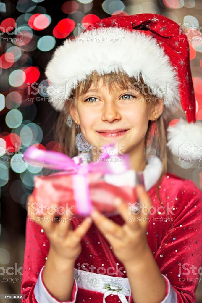 Christmas portrait royalty-free stock photo