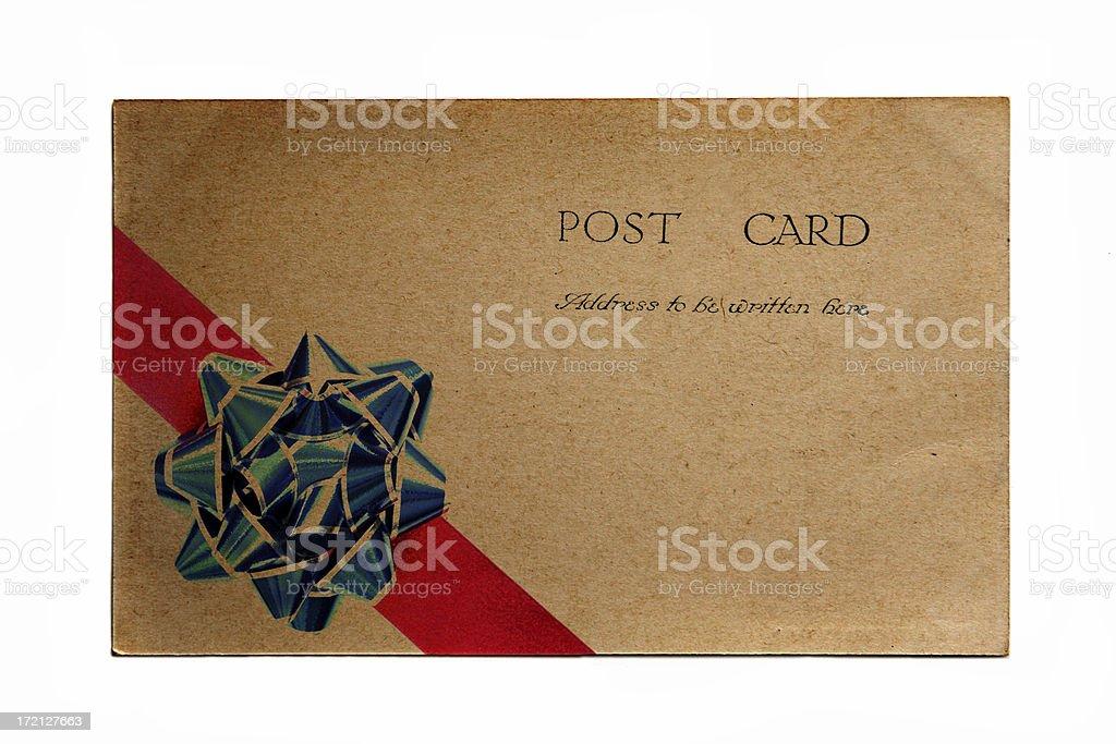 Christmas Post Card royalty-free stock photo