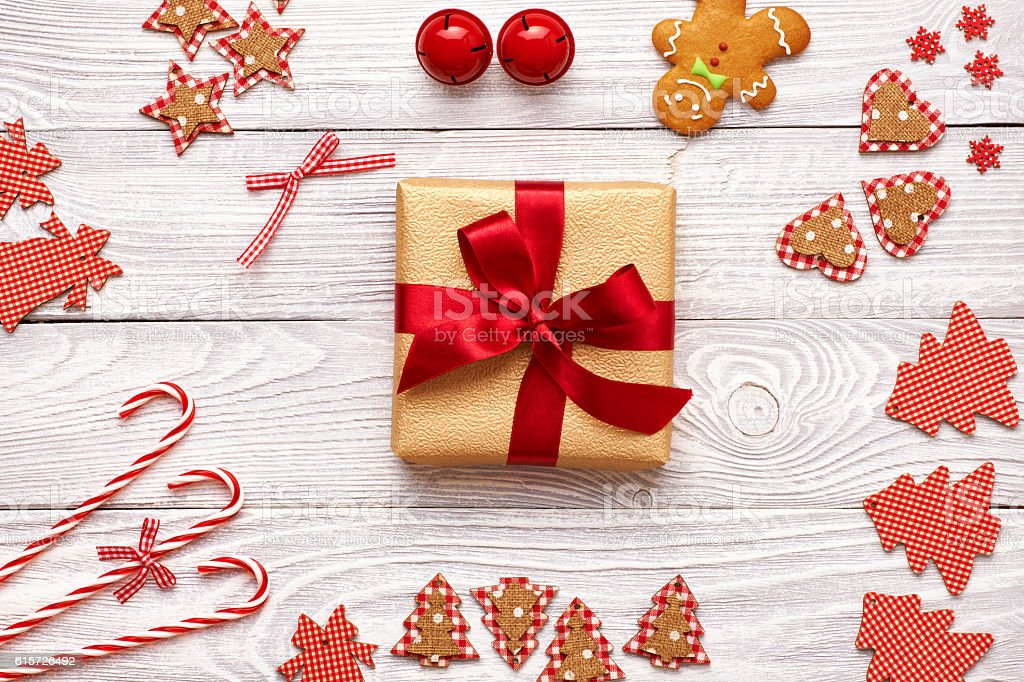 Christmas present and decoration stock photo