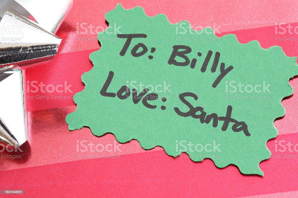 Christmas Present from Santa stock photo