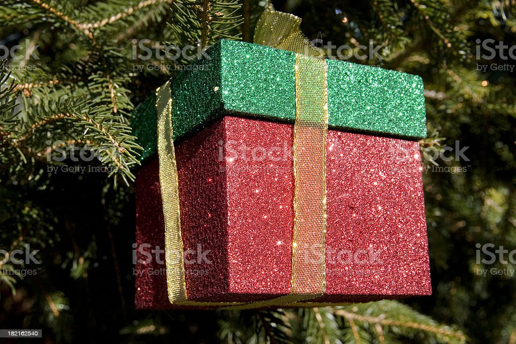 Christmas Present Ornament royalty-free stock photo