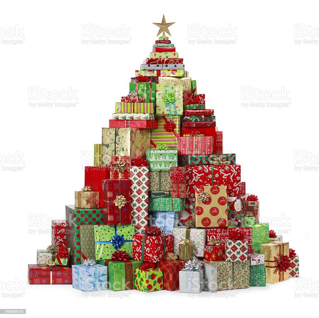 Christmas Present Tree stock photo