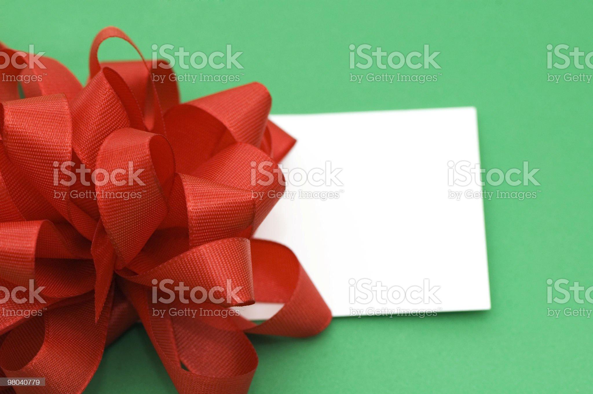 Christmas Present/Invitation royalty-free stock photo