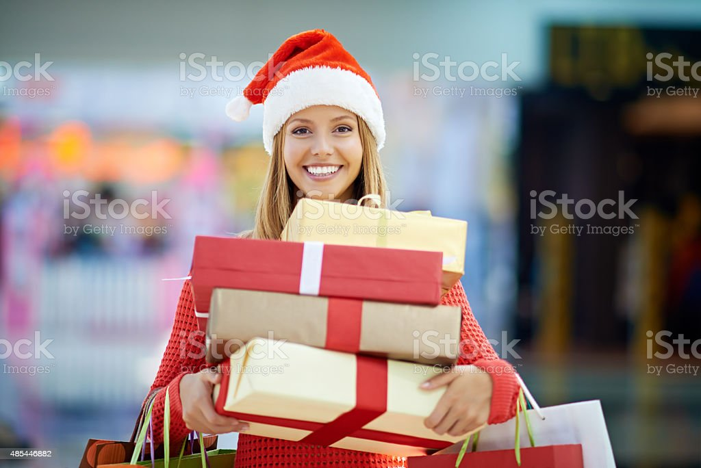 Christmas presents for everybody stock photo