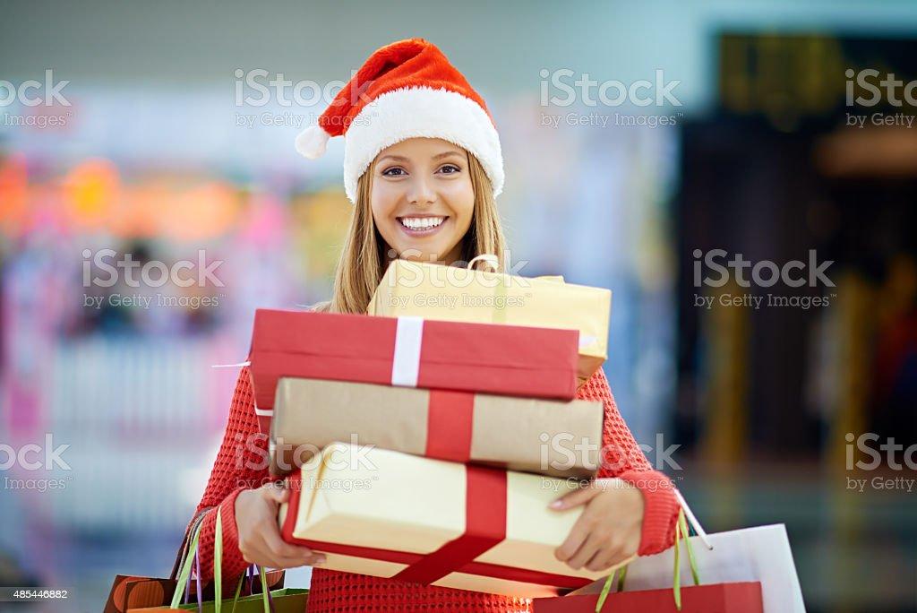 Christmas presents for everybody stock photo