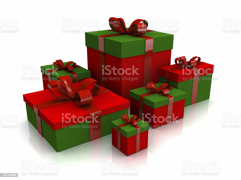 Christmas Presents for family royalty-free stock photo