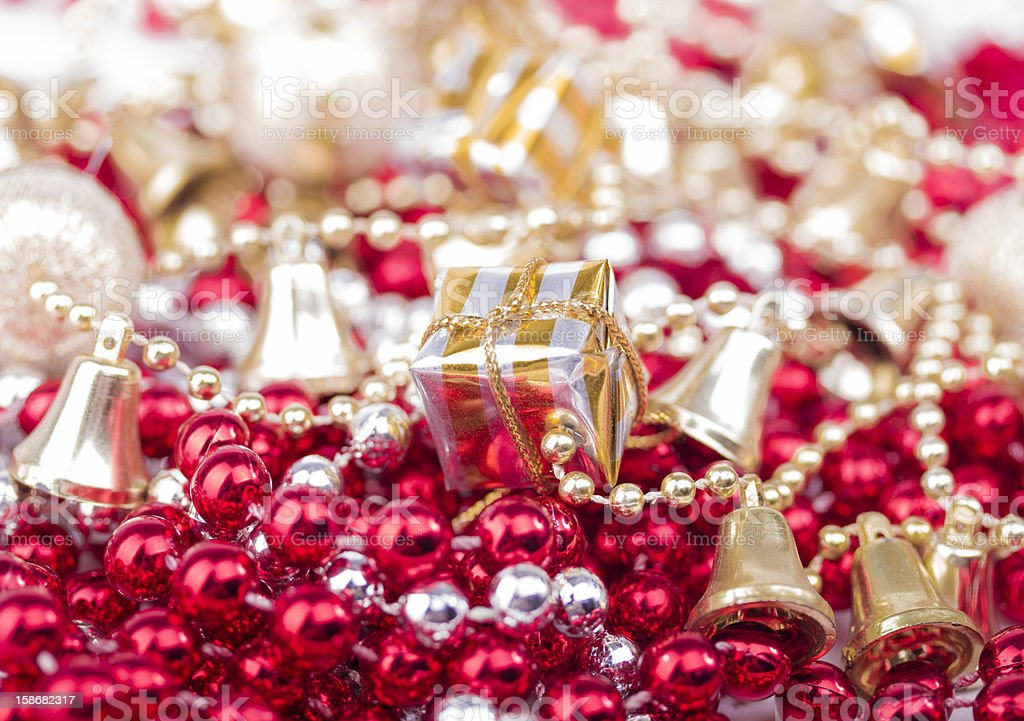 Christmas presents on pearls royalty-free stock photo