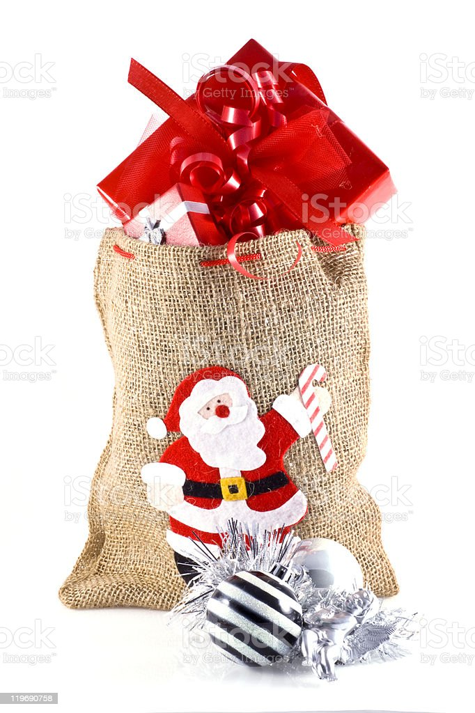 Christmas presents. stock photo
