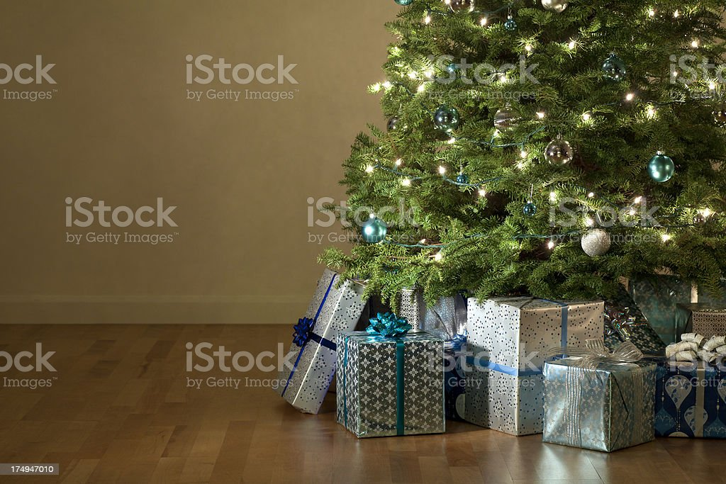 Christmas Presents Under the Tree stock photo