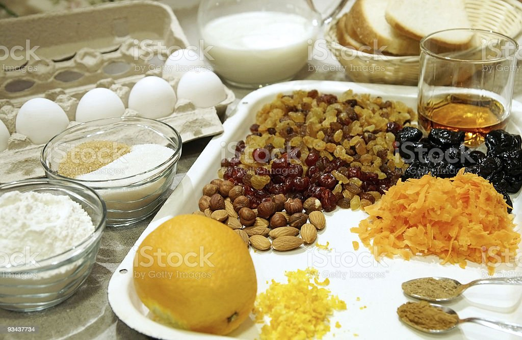 Christmas pudding ingredients royalty-free stock photo