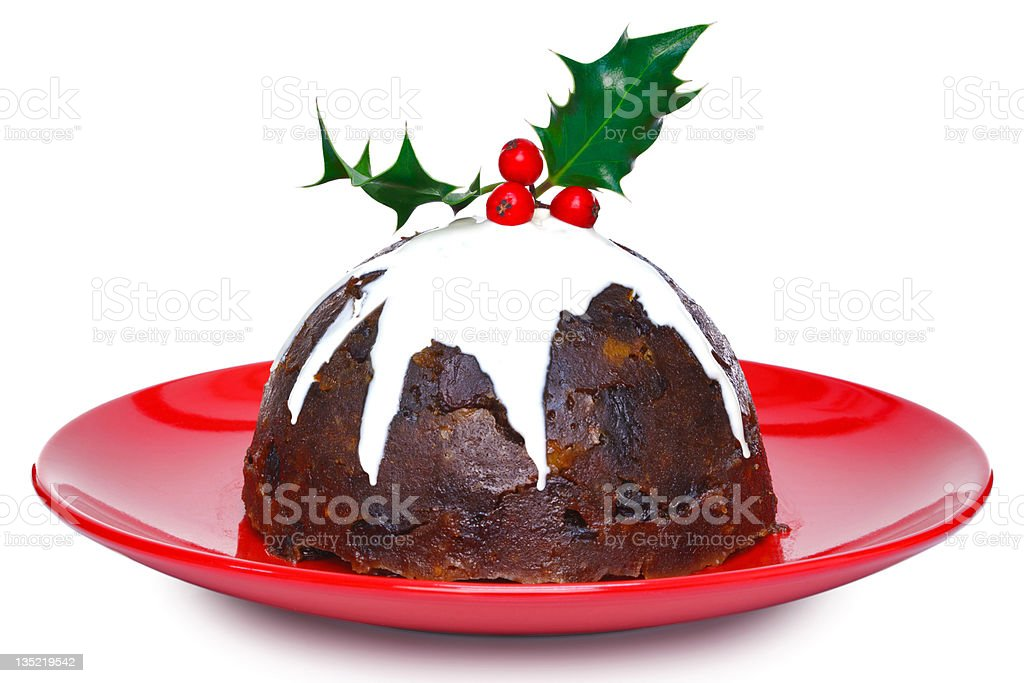 Christmas pudding isolated royalty-free stock photo