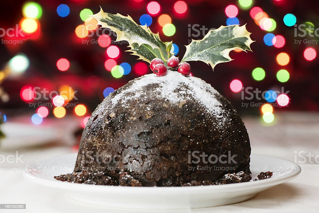 Christmas Pudding royalty-free stock photo