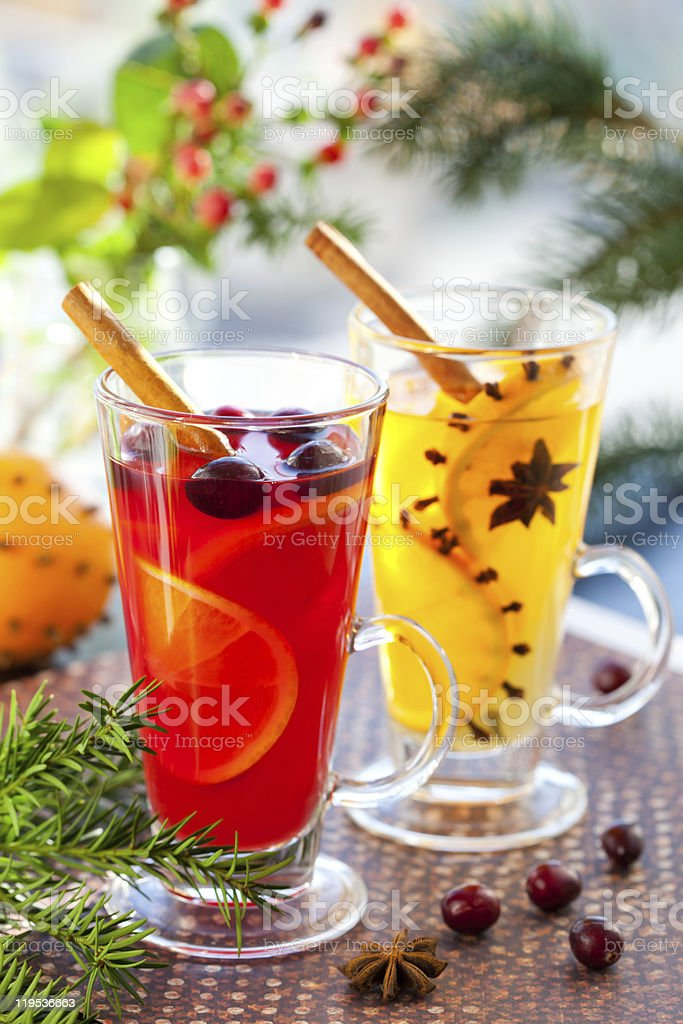 Christmas punch royalty-free stock photo