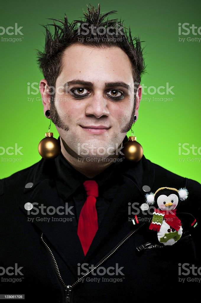 Christmas Punk With Ornament royalty-free stock photo