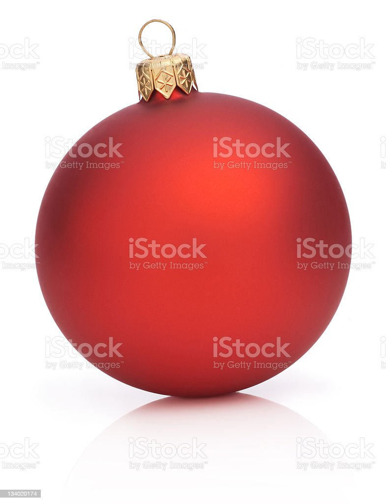 Christmas Red Ball Isolated on white background royalty-free stock photo