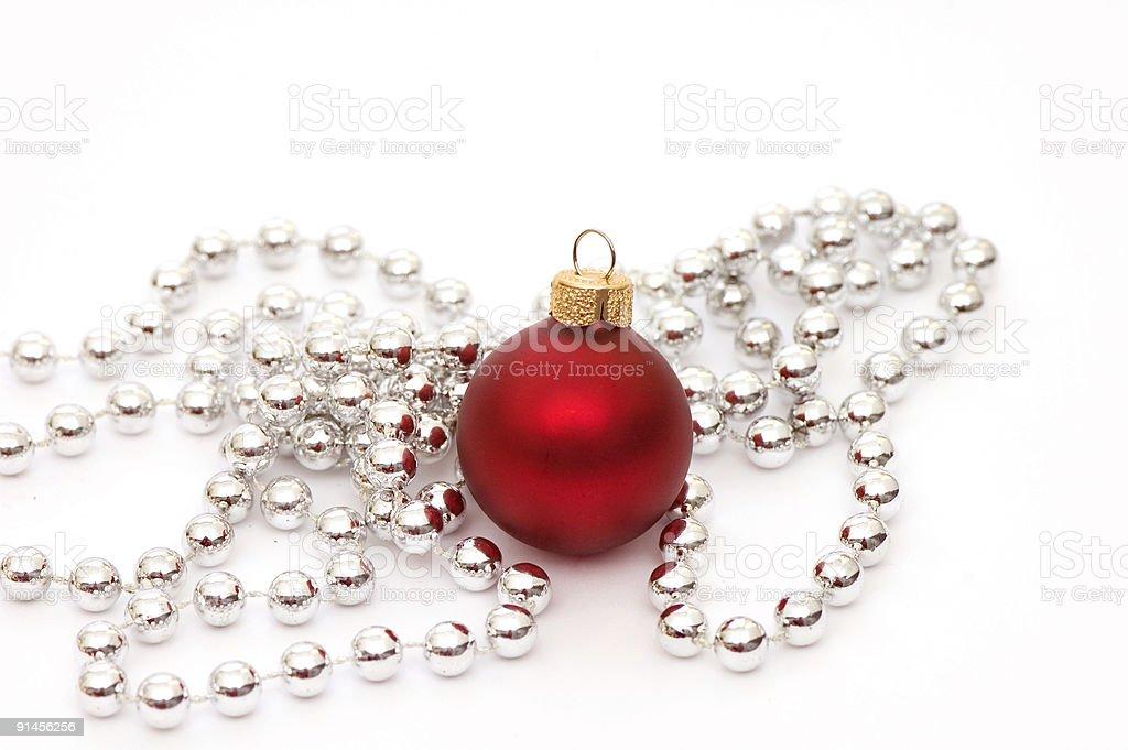 Christmas Red Ball royalty-free stock photo