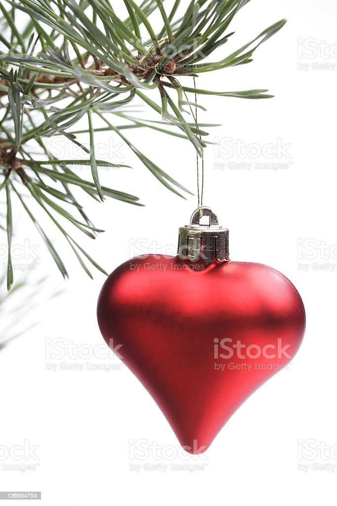Christmas Red Heart Decoration royalty-free stock photo