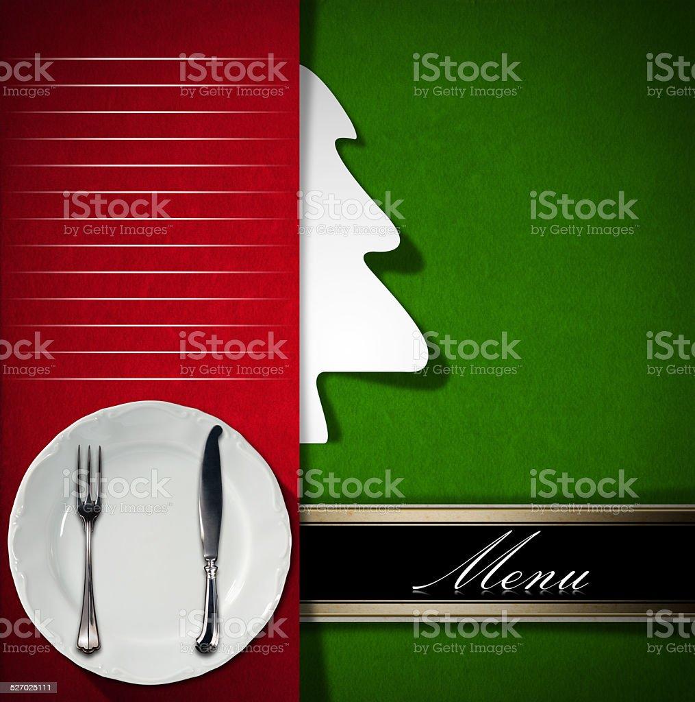 Christmas Restaurant Menu stock photo