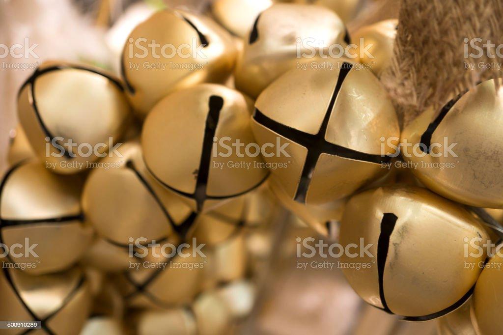 Christmas Ribbon and Bells stock photo