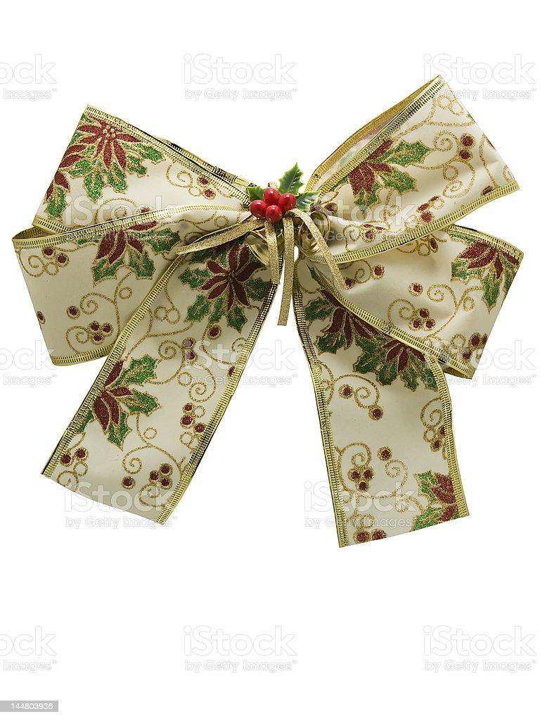 christmas ribbon decoration royalty-free stock photo