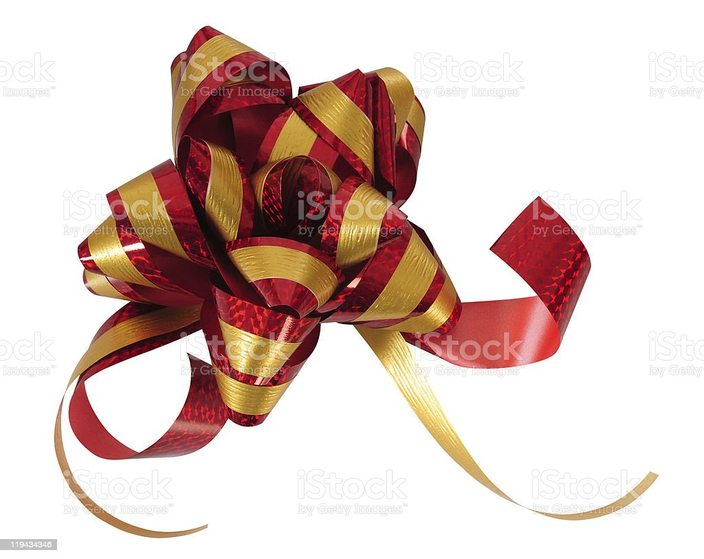 Christmas ribbon. stock photo