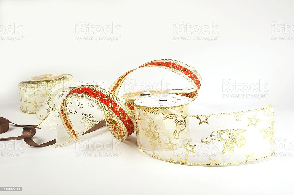Christmas ribbons royalty-free stock photo