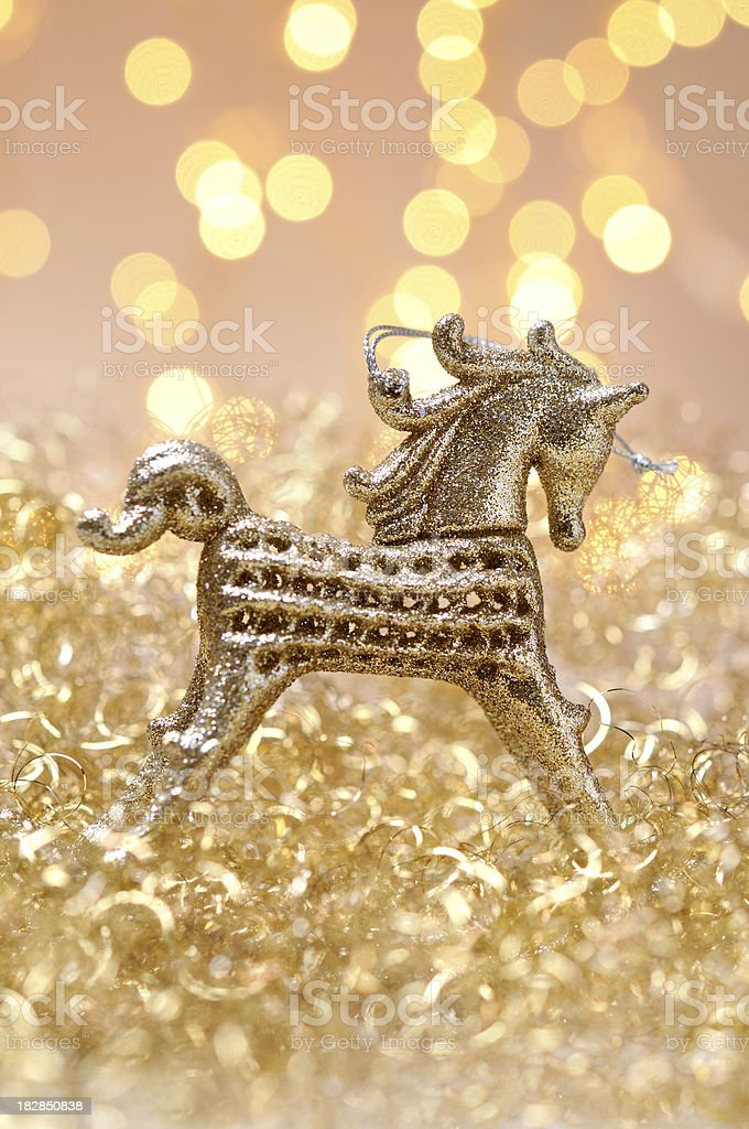 Christmas Rocking Horse Ornament royalty-free stock photo