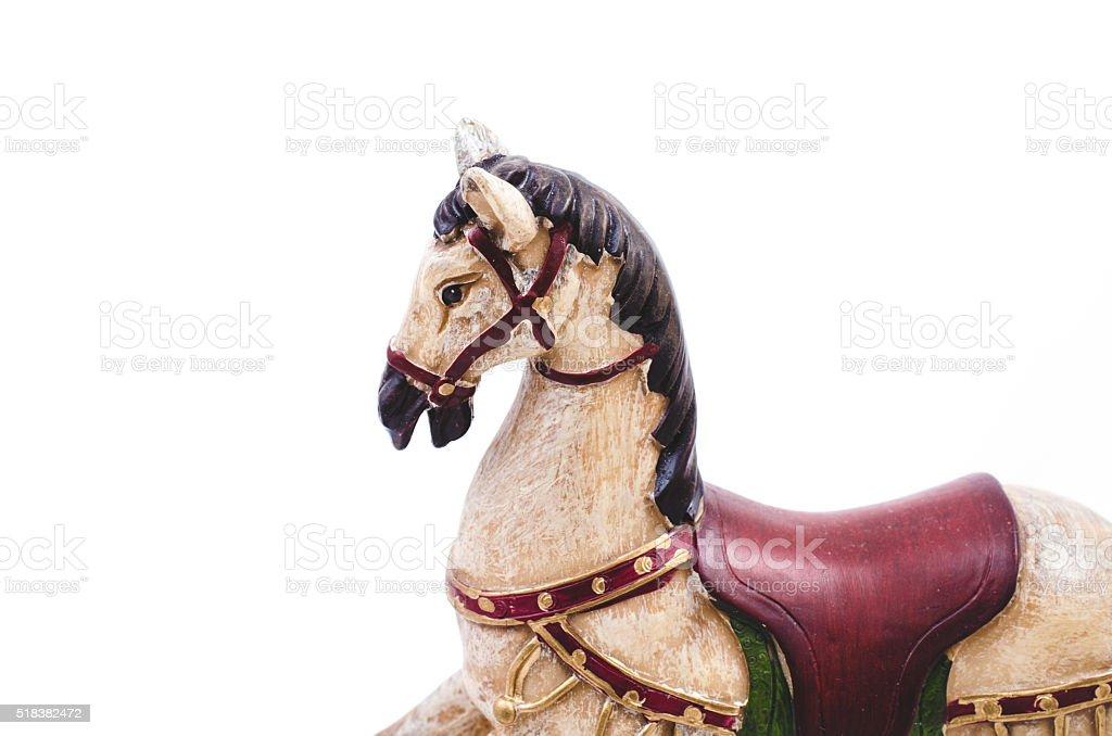 Christmas rocking horse stock photo