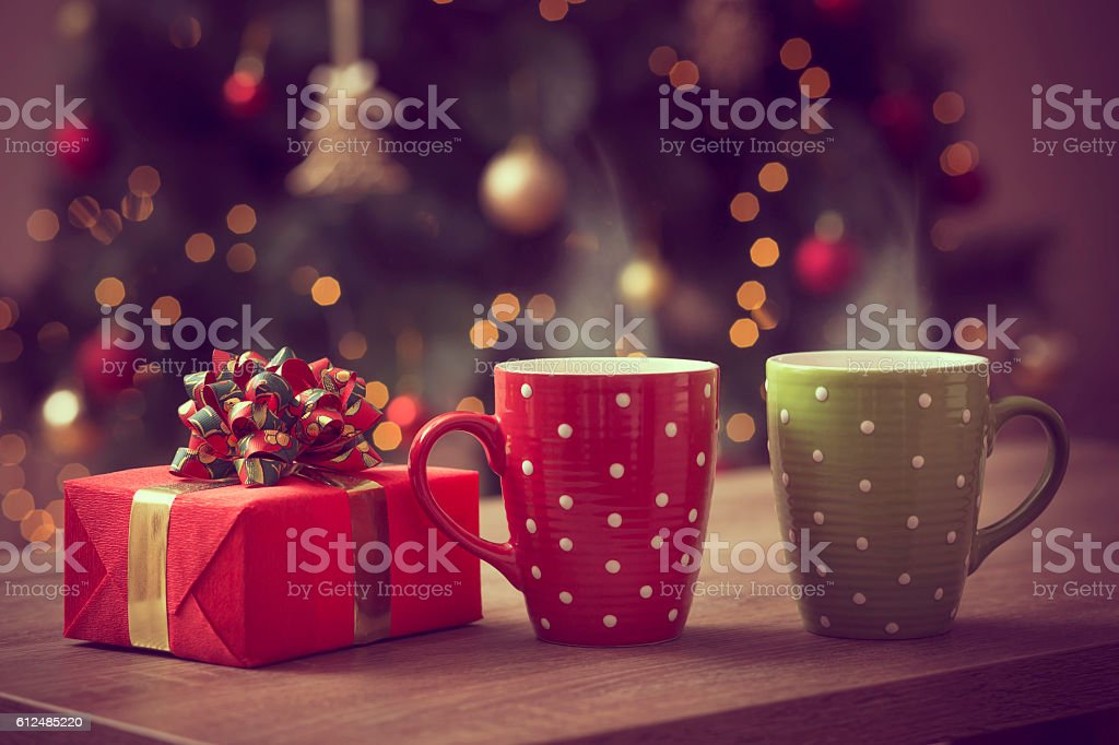 Christmas romance stock photo